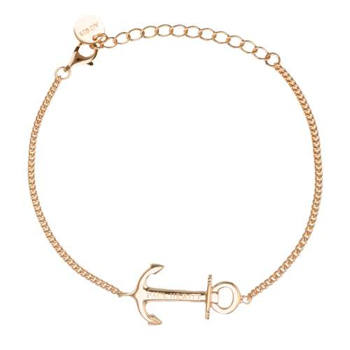 PAUL HEWITT Silber-Armkettchen Silber 925 Gold-Beschichtung (vergoldet) Anker, Seil, Schiff,