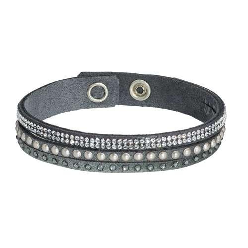 Armband Swarovski Kristall Alcantara Edelstahl Messing