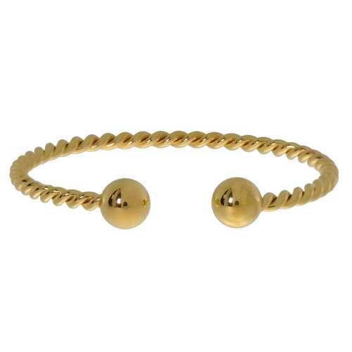 Armreif Edelstahl Gold-Beschichtung (vergoldet) Spirale