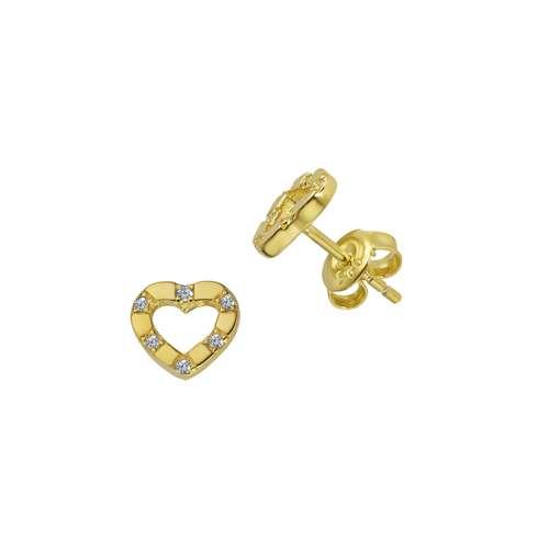 Esprit Orecchini Argento 925 Rivestimento PVD (colore oro) Zircone Cuore Amore
