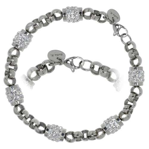 Armband Edelstahl Swarovski Kristall