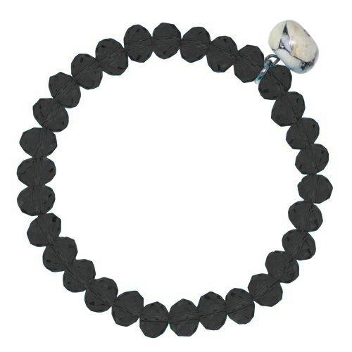 Armband Kristall Howlith Edelstahl