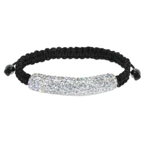 Armband Nylon Kristall Silber 925 PVC