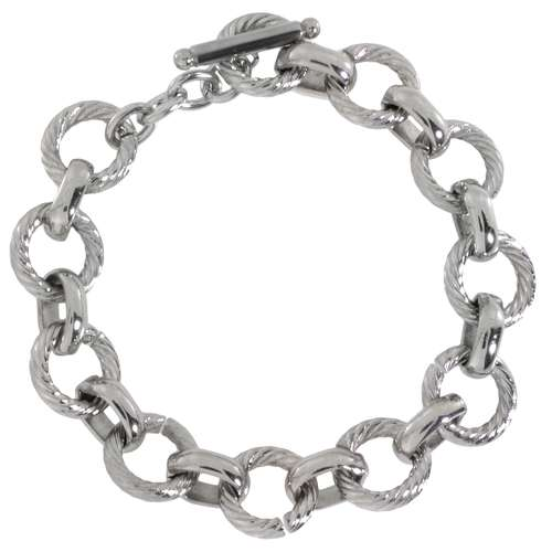 Armband Edelstahl Spirale Ewig Schlaufe Endlos