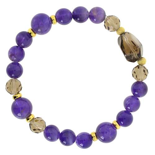 Armband Messing Messing rhodiniert Amethyst Achat