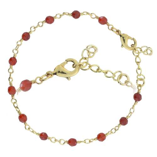 Armband Messing Gold-Beschichtung (vergoldet) Achat