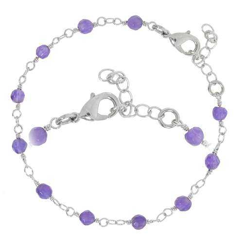 Armband Messing Amethyst
