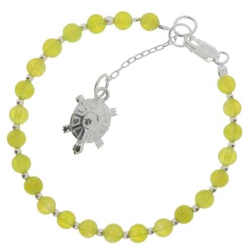 Kinder Armkette Silber 925 Kristall Schildkröte