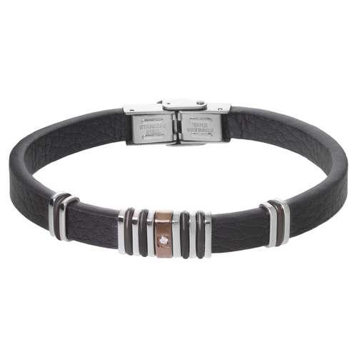 Bracelet Cuir Acier inoxydable Cristal PVC Bandes Rayures Zébrure