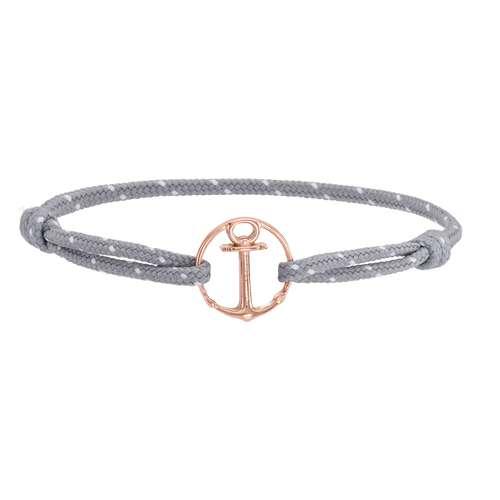 PAUL HEWITT Bracelet de plage Revêtement PVD (couleur or) Acier inoxydable Polyester recyclé Ancre corde navire
