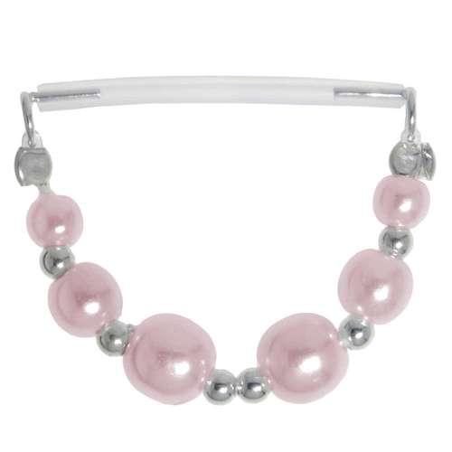 Brustpiercing Silber 925 Bioplast Synthetische Perle
