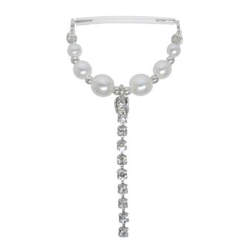 Brustpiercing Silber 925 Bioplast Synthetische Perle Kristall
