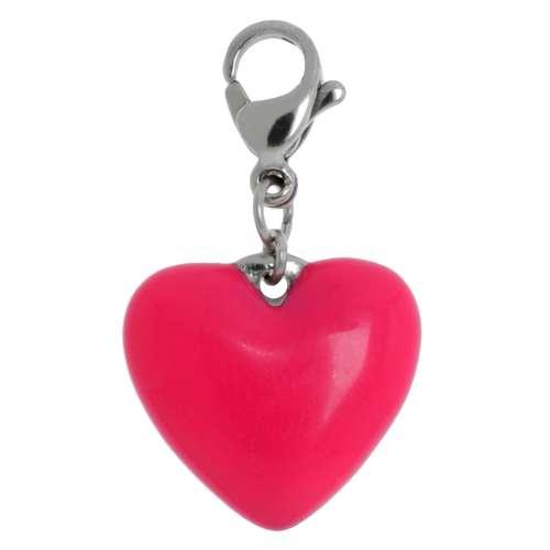 Charms-Anhänger Edelstahl Email Herz Liebe