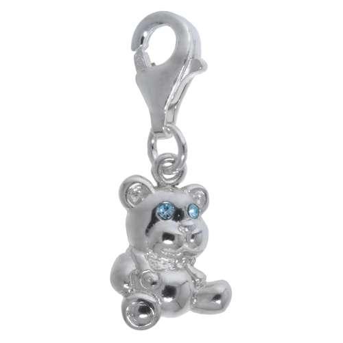 Kinder Charm Silber 925 Kristall Bär Bärchen Teddy