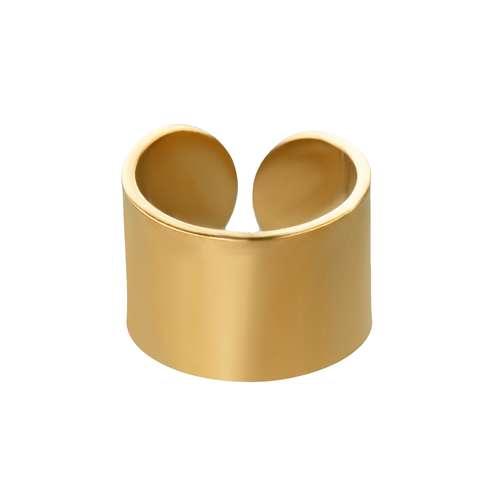 Ohrclip Edelstahl PVD Beschichtung (goldfarbig)