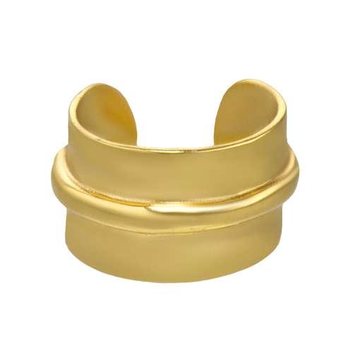 Ohrclip Silber 925 PVD Beschichtung (goldfarbig)