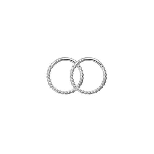 Orecchini Metallo chirurgico 316L Spirale
