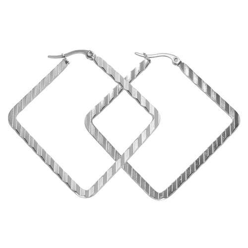 Ohrhänger Chirurgenstahl 316L Streifen Rillen Linien