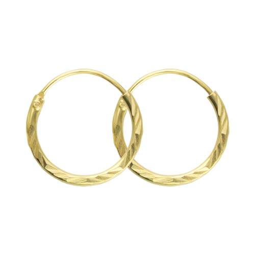 Creolen Gold-Beschichtung (vergoldet) Silber 925