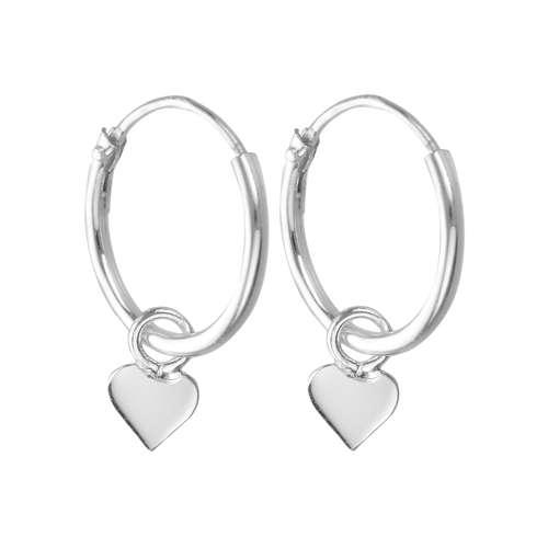 Creolen Silber 925 Herz Liebe