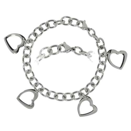 Armband Edelstahl Herz Liebe