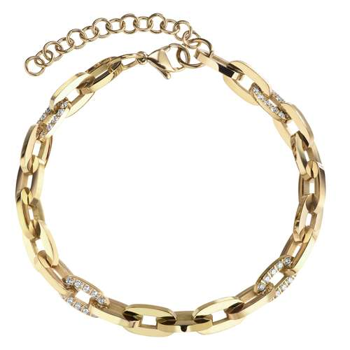 Armband Edelstahl PVD Beschichtung (goldfarbig) Zirkonia