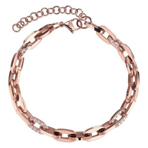 Armband Edelstahl Zirkonia PVD Beschichtung (goldfarbig)