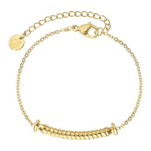 PAUL HEWITT Bracelet Acier inoxydable Revêtement PVD (couleur or) Ancre corde navire