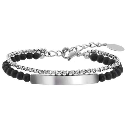 Bracelet Acier inoxydable Agate