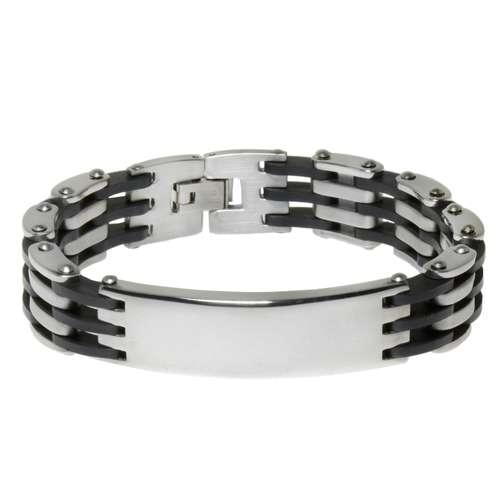 Armband Edelstahl PVC