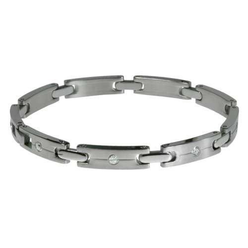 Armband Edelstahl Kristall