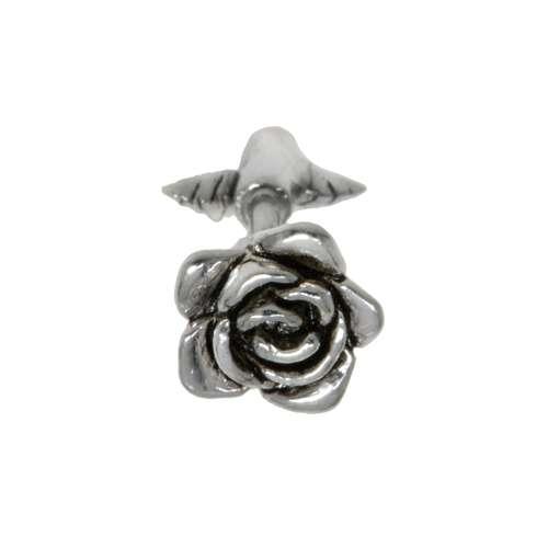 Ohrpiercing Chirurgenstahl 316L Messing mit Silberbeschichtung Blume Blatt Pflanzenmuster Florales_Muster Rose