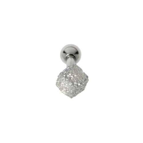 Piercing orecchio Metallo chirurgico 316L Argento 925