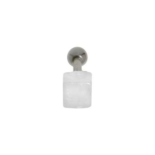 Ohrpiercing Chirurgenstahl 316L Messing mit Silberbeschichtung Acrylglas