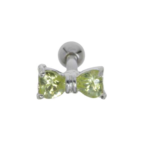 Piercing orecchio Metallo chirurgico 316L Ottone con rivestimento in argento Zircone Fiocco Fiocco_per_capelli