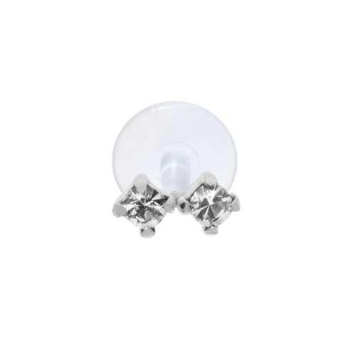 Piercing orecchio Argento 925 Cristallo Bioplast