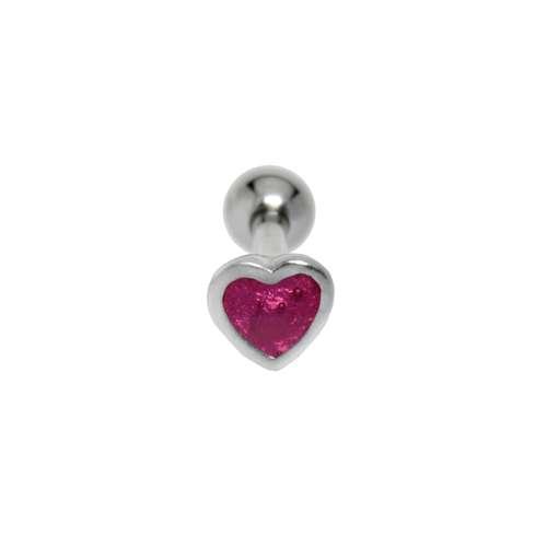 Ohrpiercing Chirurgenstahl 316L Messing mit Silberbeschichtung Email Herz Liebe