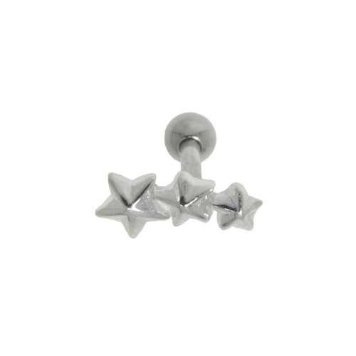 Ohrpiercing Chirurgenstahl 316L Messing mit Silberbeschichtung Stern