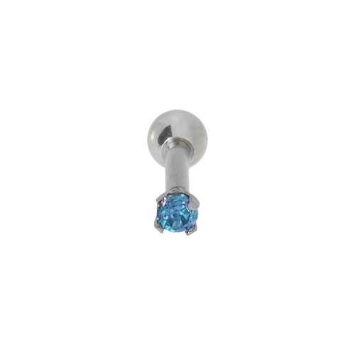 Ohrpiercing Chirurgenstahl 316L Kristall