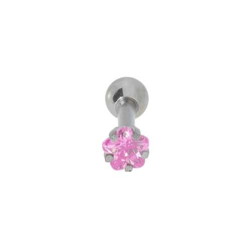 Piercing orecchio Metallo chirurgico 316L Zircone Fiore