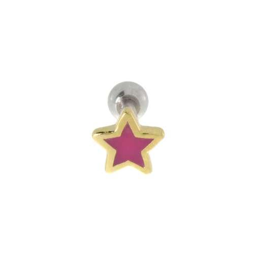 Ohrpiercing Chirurgenstahl 316L Gold-Beschichtung (vergoldet) Stern