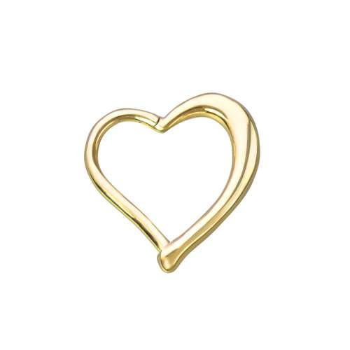 Piercing orecchio Metallo chirurgico 316L Rivestimento PVD (colore oro) Cuore Amore Heartilage
