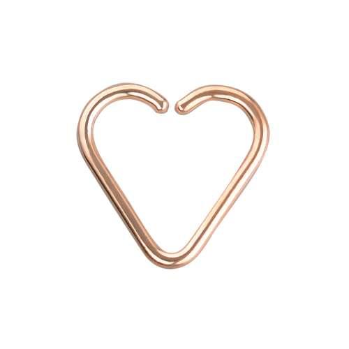 Ohrpiercing Chirurgenstahl 316L PVD Beschichtung (goldfarbig) Herz Liebe Heartilage
