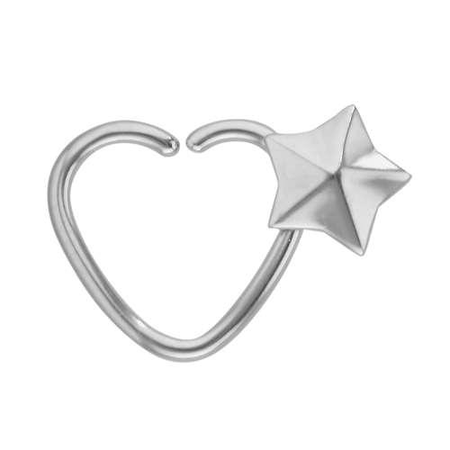 Piercing de oreja Acero quirúrgico Estrella