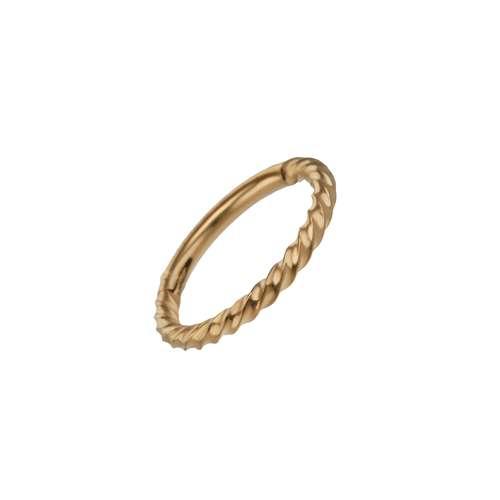 Piercing orecchio Metallo chirurgico 316L Rivestimento PVD (colore oro) Spirale