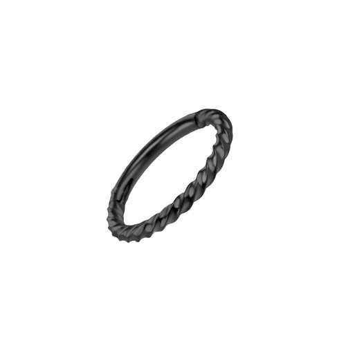 Piercing orecchio Metallo chirurgico 316L Rivestimento PVD (nero) Spirale