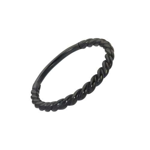 Ohrpiercing Chirurgenstahl 316L PVD Beschichtung (schwarz) Spirale