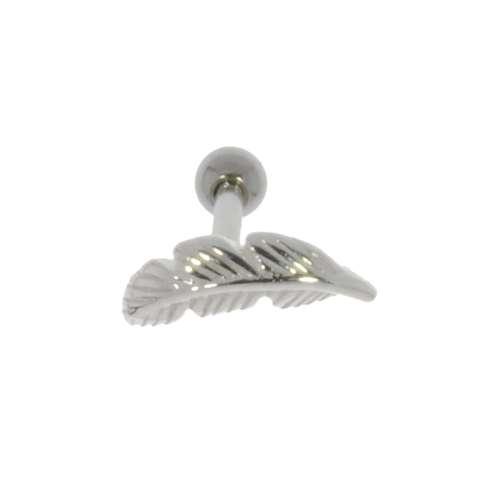 Ohrpiercing Chirurgenstahl 316L Messing mit Silberbeschichtung Feder