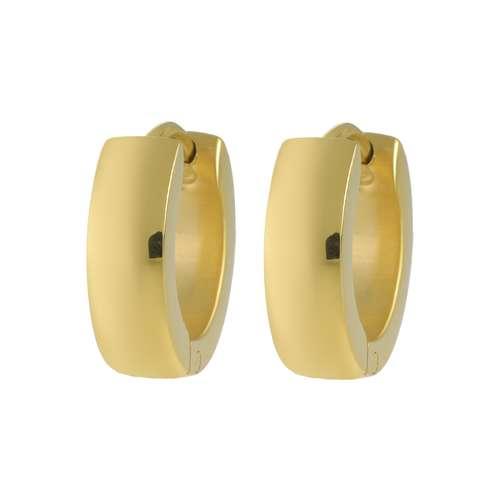 Orecchini a cerchio larghi Acciaio inox Rivestimento PVD (colore oro)