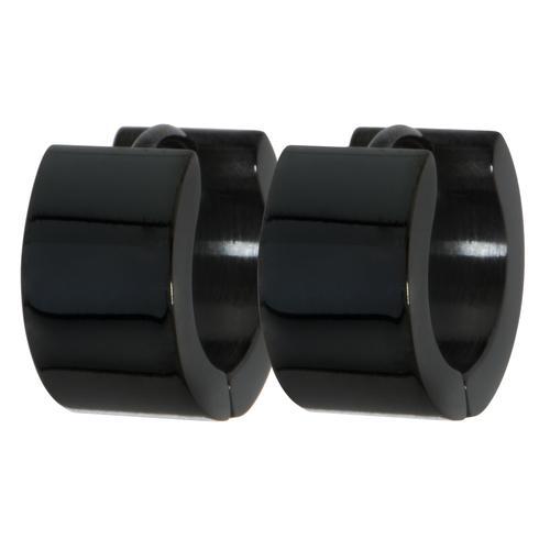 Ohrringe Edelstahl PVD Beschichtung (schwarz)
